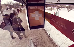 Duracell Bus Shelter in Montreal Heats Up -Hold Hands
