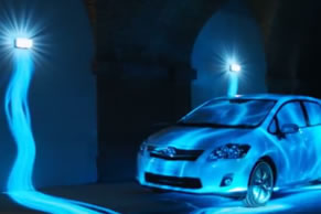 Toyota Auris Hybrid: 'Get Your Energy Back' 3D projection