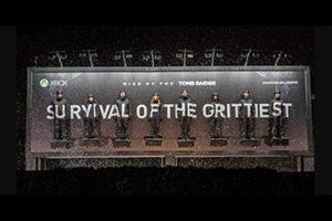 "MICROSOFT XBOX – TOMB RAIDER ""The Survival Billboard"""